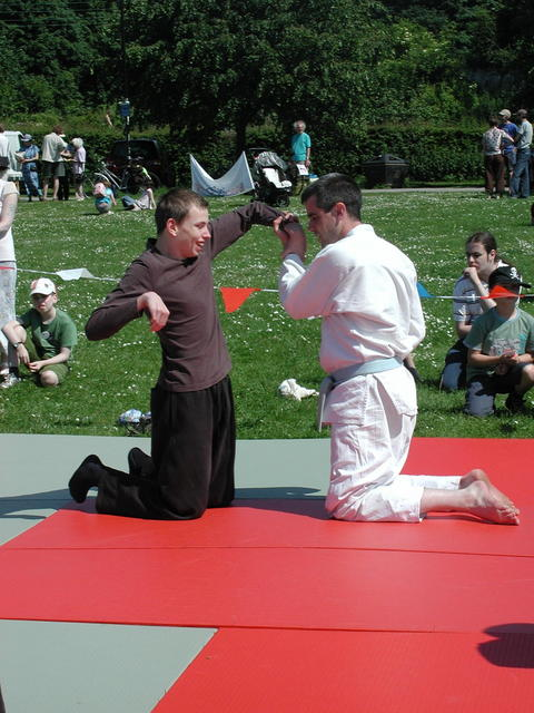 Adam learns ju-jitsu #1 - York 31/5/2009