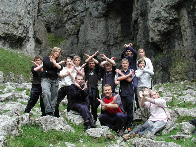 Extreme Adam and school friends - Gordale Scar 15/5/2007