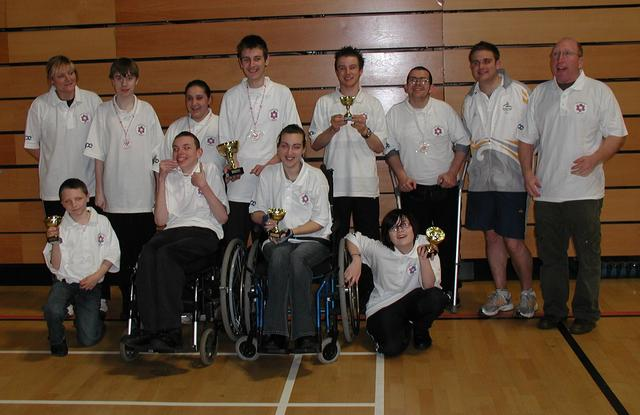 The winning team with cups and medals - Sheffield 23/11/08